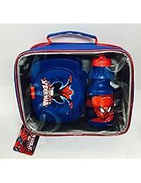Marvel Spiderman Set de 3 Unidades de Almuerzo, Multicolor