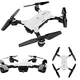 Drone cuadricóptero con control remoto y cámara HD drones baratos con 2.0MP 120°FOV Cámara plegable quadcopter kit Sannysis 2.4G 6-Axis drones con camara y pantalla profesional baratos blanco