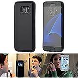 Coque Anti-gravité pour Samsung Galaxy S7 Edge G935, Coque compatible Galaxy S7 Edge, anti-gravité nano-collant magique, couleur Noir