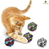 12 Bolas de maylar para gatos - Juguete suave, ligero y divertido para gatitos y gatos adultos -...
