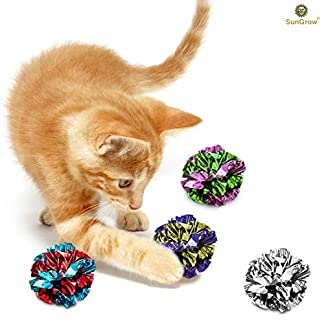 12 mylar crinkle balls for cats --- soft, lightweight & fun toy for both kittens & adult cats - shiny & stress buster toy - interesting crinkly sounds - hours of entertainment - safe for your kitty 12 Mylar Crinkle Balls For Cats — Soft, lightweight & fun toy for both Kittens & Adult Cats – Shiny & Stress Buster Toy – Interesting Crinkly Sounds – Hours of Entertainment – Safe for your kitty 516N0YDfLyL