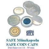 50 SAFE Münzkapseln CAPS 325 / 32,5 PP Randlos - ohne Rand - Ideal für 10 EURO - 10 DM 10 Mark DDR Münzen - Coincaps - Münzenkapseln