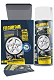 mibenco 61001402 FFELGENFOLIE Set, 4 x 400 ml, Matt Weiß - Original 4er Set - Flüssiggummi / Sprühfolie - Farbe und Schutz zum Felgen lackieren