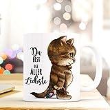 ilka parey wandtattoo-welt® Tasse Becher Katze & Spruch