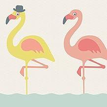 Anna pared máximo de cenefa adhesiva Funny Flamencos–Cenefa para pared infantil/bebé habitaciones con alegres, Pájaros, multicolor–Adhesivo de pared Dormitorio Niña & niño, pared decoración bebé/Niños