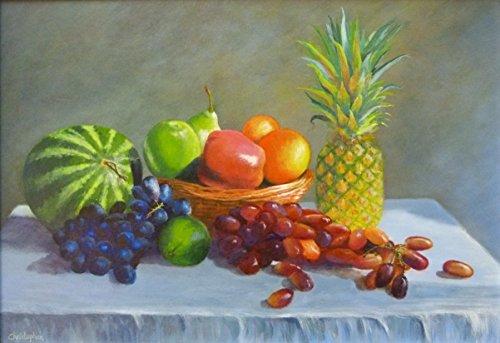 fruta-de-sol-original-bodegon-pintura-42-cm-x-30-cm-acrilico-sol-brillante-cesta-melon-pina-manzanas