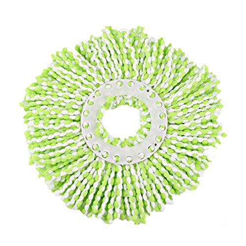 OUNONA Recambio de Fregona Giratoria 360 Mopa Giratoria de Microfibra (Verde)