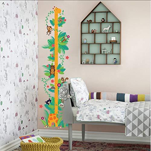 ikjuh AFFE Giraffe Höhe Maßnahme Wandaufkleber Für Kinderzimmer Blume Wachstum Chart Wandtattoos Kunst Kinderzimmer Tiere Decor 35 * 125 cm