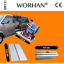 WORHAN® 1.22m Rampa Plegable Carga Silla de Ruedas Discapacitado Movilidad Aluminio R4
