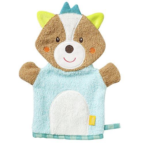 Fehn 071412 Waschhandschuh Fuchs / Waschlappen mit Tiermotiv für fröhlichen Badespaß, für Babys und Kinder ab 0+ Monaten