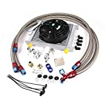 Gowe Universal 30Reihe 10Ein Motor Getriebe-Ölkühler-Kit + 17,8cm Elektrische Fan Kit