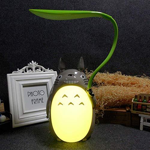 Totoro Anime LED-Nachtlicht Kinder-Charakter-Lampe, USB Aufladung, Schreibtisch-Nachttisch-Leselampe,Yellowbelly