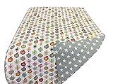 Krasilnikoff - Steppdecke - Quilt - Äpfel - Baumwolle 180 x 130cm