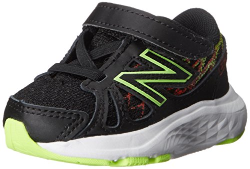 New Balance KV690 Hook and Loop Running Shoe (Infant/Toddler), Black, 2 M US Infant Black