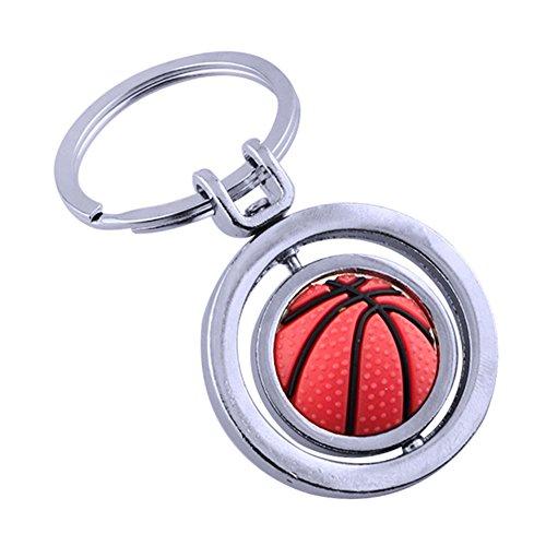 Teydhao Portachiavi rotante di pallacanestro dei bottoni, Originali Accessori da Auto Moto Telefono Borse per Donne Bambini Regalo del premio della festa di compleanno