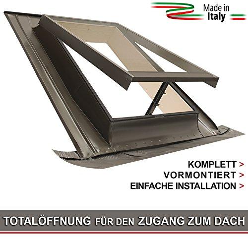 Ausstiegsfenster - modell BASIC VASISTAS / Dachfenster + Eindeckrahmen / Oberlicht / Zugang zum Dach / Öffnung Art Velux (48x72 Breite x Höhe)