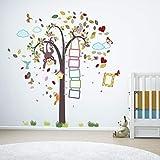 extraíble Autoadhesivo Adhesivos de pared cuarto del bebé mono altura Métrico Colorido Marco...