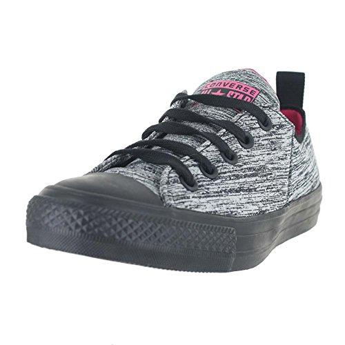 Converse Womens All Star Abbey Néoprène Ox Textile Baskets Noir / Vif