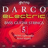 C. F. Martin & Co. a D 9705l Darco corde per basso elettrico, Light, in nichel, a 5corde, .045-.125,