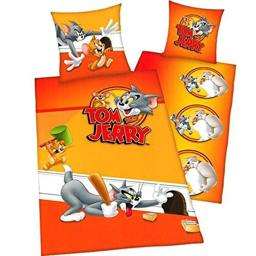TOM UND Jerry Umkehrbar Youth Collection Bettwäsche Kissenbezug 80x 80cm Bettbezug 135x 200cm 100% Baumwolle Youth Toms
