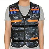 HONGCI Tarnung Taktische Weste Jacke Kit für Kinder Nerf Gun N-strike Elite Series Sniper (kommt mit 20er Darts Pfeile)
