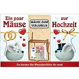 Klappkarte mit Mausefalle Geldgeschenkidee zum Geburtstag (Mäuse zur Hochzeit 22206)
