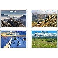 The Alps - 4 Pack - Jumbo Fridge Magnet/Magnets Gift/Souvenir/Present