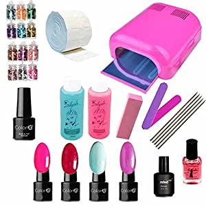 Kit Manucure Vernis Semi Permanent Lampe UV