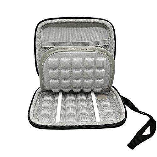 Festplatte Tasche Tragetasche Wasserdicht Stoßfest für Seagate Expansion und Backup, und WD My Passport Ultra (Altes Modell) 6,3cm tragbar Externes Gerät (schwarz)