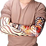 Hosaire 6 pcs/set Neuheit Designs Rock-Fake Tattoo Sleeves Arme/Beine Strümpfe Stretch Temporary-Kleid-Kostüm für Hosaire 6 pcs/set Neuheit Designs Rock-Fake Tattoo Sleeves Arme/Beine Strümpfe Stretch Temporary-Kleid-Kostüm