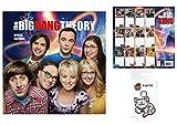Set: Big Bang Theory, Offizieller Poster Kalender 2018 (30x30 cm) Inklusive 1x Fan-Schlüsselanhänger (15x7 cm)