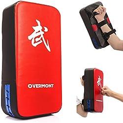 Overmont Pao de Cuero PU Saco de Boxeo Almohadilla de Choque Cojín Kick para boxeo taekwondo karate judo Jiu-jitsu brasileño UFC MMA K1 entrenamiento Boxing Tailandés Jeet Kune Do 40cm*20cm*10cm