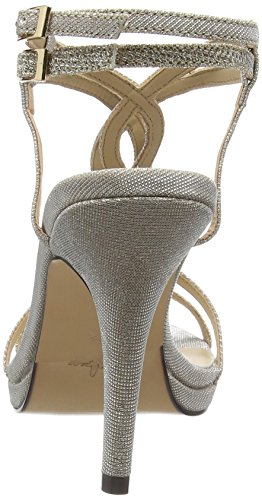 MENBUR - Gerbera, Scarpe col tacco con cinturino a T Donna Beige (Beige (Stone))