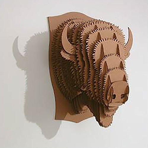 Preisvergleich Produktbild CARDBOARD SAFARI 3D TIERKOPF TROPHÄE MICRO deko Geweih Wandbild Billy das Bison