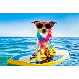 PB Dog Surfing On A Surfboard Canvas Painting - Best Reviews Guide