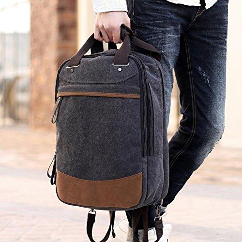 borsa a tracolla zaino degli uomini, zaino da viaggio esterno di grande capacità, casuale zaino di tela, di sesso maschile sacchetto dell'allievo bag, borsa da viaggio , coffee retro black