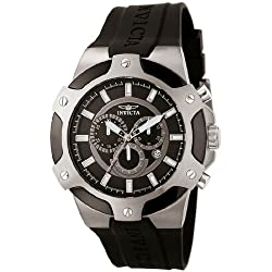 Invicta 7342 52mm Stainless Steel Case Black Polyurethane flame fusion Men's Watch