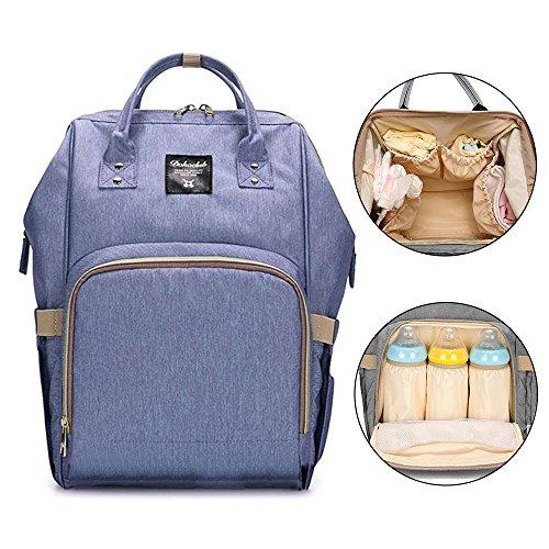 Preisvergleich Produktbild Bonamana Multifunktions-Großraum-wasserdichte Baby-Windel-Rucksack-Beutel-Windel-Einkaufstasche-Spielraum-Rucksack-Windel-Beutel (Lila)