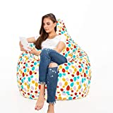 Urban Gifts Cotton Canvas Printed Bean Bag with Beans