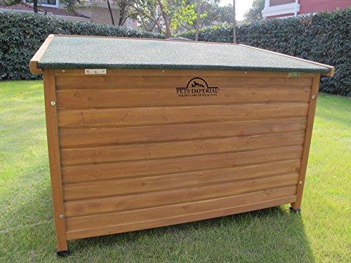 XL Isolierte Norfolk Hundehütte Aus Holz Mit Entfernbarem Boden Zur Einfachen Reinigung - 3