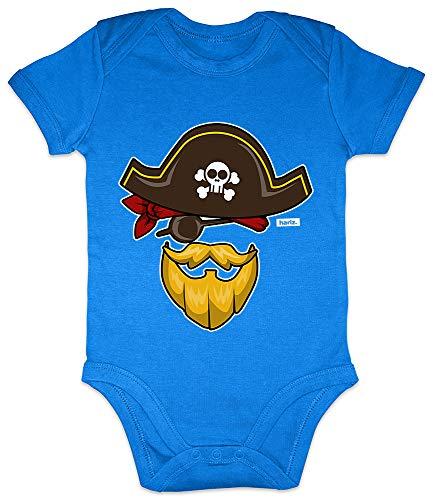 (HARIZ Baby Body Kurzarm Pirat Kostüm Karneval Verkleidung Plus Geschenkkarten Royal Königs Blau 0-3 Monate)