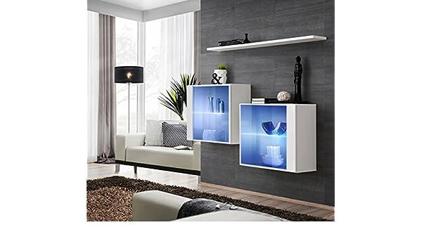 Vidal composizione due vetrine con una mensola per sala soggiorno
