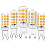 Eco.Luma Ampoule LED G9, 4W Equivalent 28W 33W 40W Lampe Halogène, 410LM, Blanc Chaud 3000K, AC100-265V, NON-Dimmable, Culot G9 Standard (Lot de 5)