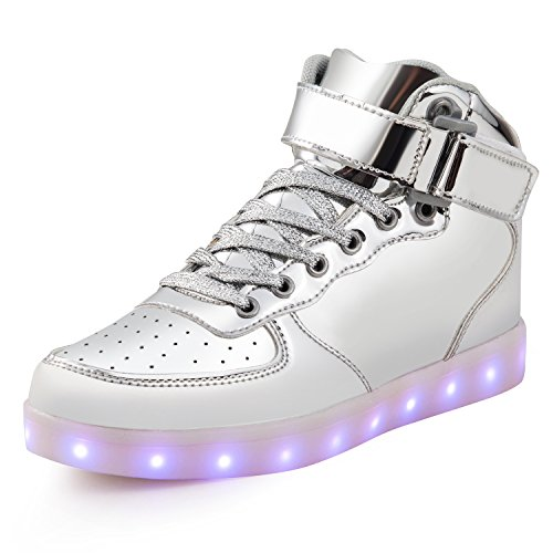 on sale 51554 6743a SAGUARO® 7 Farben LED Schuhe USB Aufladen Leuchtschuhe Licht Blinkschuhe  Leuchtende Sport Sneaker Light Up