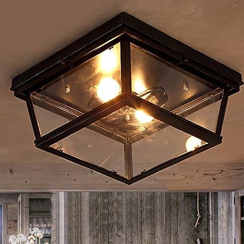 Garwarm Vintage Chandelier 2 lights Antique Pendant light Home Ceiling Light Fixtures Chandeliers