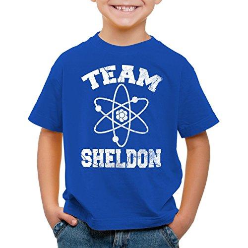 CottonCloud Sheldon College Team Kinder T-Shirt, Farbe:Blau;Größe:164