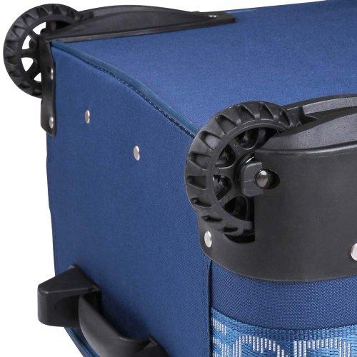 5 TLG. Trolleyset Kofferset Reisekoffer Handgepäck XXL, XL, L, M, S (Blau) - 3