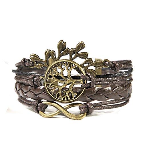 HITOP-Fashion-Vintage-Cool-Charms-Damen-Leder-Bronze-Armband-HOPE-Baumblatt-Baum-des-Lebens-Lederarmband-Bracelet-mit-Charm-Anhnger-Geschenk-Gift