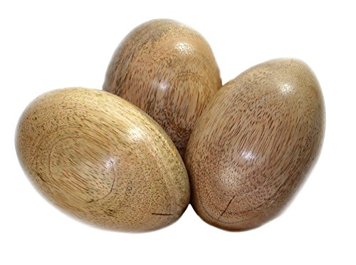 budawi® - Dekoei Osterei aus Mangoholz groß 65 x 50 mm, Oster Holz Deko Osterdeko