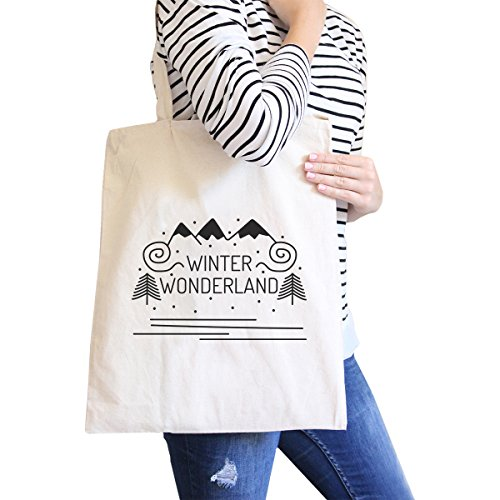 365 Printing inc , Borsa da spiaggia  Donna Merry Corgmas Corgi - Black Misura unica Winter Wonderland - Natural